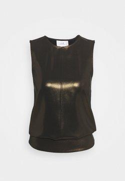 Victoria Victoria Beckham - SLEEVELESS FLUID SHINE OPEN BACK  - Blusa - black/gold
