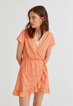 PULL&BEAR - MIT PRINT - Sukienka letnia - orange