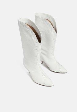 L37 - Cowboy-/Bikerboot - white