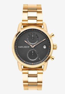 Carlheim - Rannekello ajanottotoiminnolla - rose gold/black