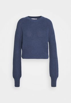 NU-IN - BALLOON SLEEVE CROPPED JUMPER - Trui - navy