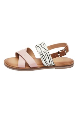 Next - PINK/ ZEBRA CROSS STRAP SANDALS (OLDER) - Riemensandalette - pink