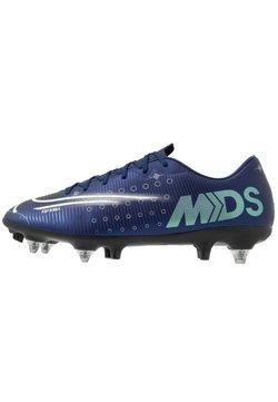 Nike Performance - MERCURIAL VAPOR 13 ACADEMY MDS SG-PRO AC - Korki wkręty - blue void/metallic silver/white/black