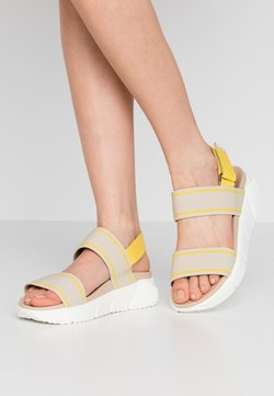 Marc O'Polo - SPORTY  - Plateausandalette - yellow