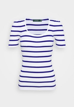 Lauren Ralph Lauren - NADALIA SHORT SLEEVE - T-Shirt print - white/heritage royal