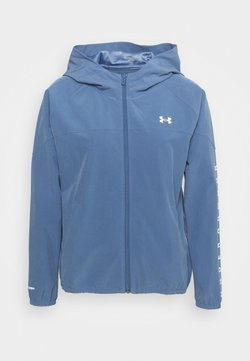 Under Armour - HOODED JACKET - Laufjacke - mineral blue