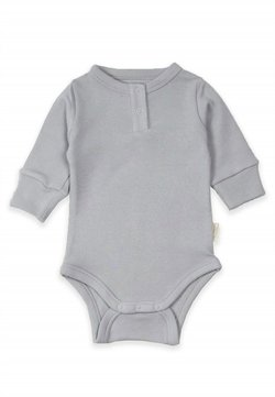 Cigit - Buttoned Long Sleeve Bodysuit (0 to 3 years) - Body - grey