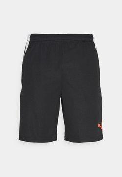 Puma - TEAM LIGA TRAINING SHORTS - Pantaloncini sportivi - black/red blast