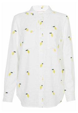 Boden - Hemdbluse - weiß zitronenstickerei