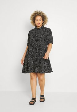 Glamorous Curve - MINI DRESS WITH COLLAR - Skjortekjole - black
