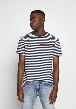 Tommy Jeans - BRANDED STRIPE TEE - T-Shirt print - twilight navy/multi