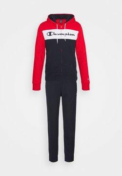 Champion - HOODED FULL ZIP SUIT - Trainingsanzug - red/dark blue