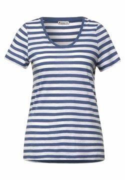 Street One - MIT STREIFEN MUSTER - T-Shirt print - blau
