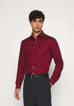 Calvin Klein Tailored - STRUCTURE EASY CARE SLIM SHIRT - Overhemd - red