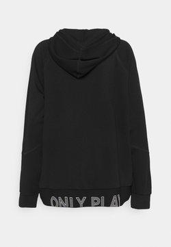 ONLY Play - ONPNYLAH ZIP HOOD CURVY - Verryttelytakki - black/white