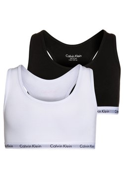 Calvin Klein Underwear - 2 PACK - Biustonosz bustier - white/black