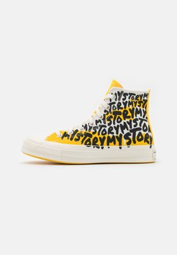 Converse - CHUCK 70 MY STORY - Sneakersy wysokie - egret/amarillo/black