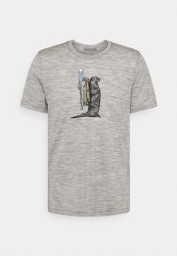 Icebreaker - TECH LITE CREWE OTTER PADDLE - T-Shirt print - grey