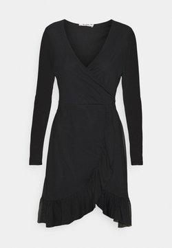 NA-KD - WRAP TIE DRESS - Kjole - black