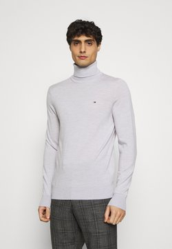Tommy Hilfiger Tailored - FINE GAUGE LUXURY ROLL  - Pullover - ice heather