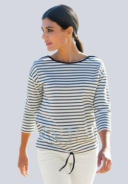 Alba Moda - Langarmshirt - marineblau weiß