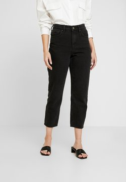 Lost Ink Petite - HIGH WAIST DRACO - Straight leg jeans - washed black