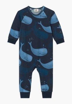 Walkiddy - SMILING WHALES BABY UNISEX - Pyjamas - blue