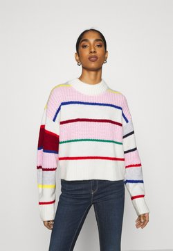 Tommy Jeans - FLAG SLEEVE - Strickpullover - romantic pink /multi
