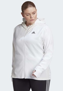 adidas Performance - AEROREADY KNIT JACKET (PLUS SIZE) - Chaqueta de entrenamiento - white
