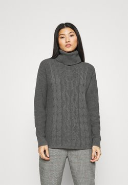 GAP - CABLE  - Strickpullover - charcoal grey