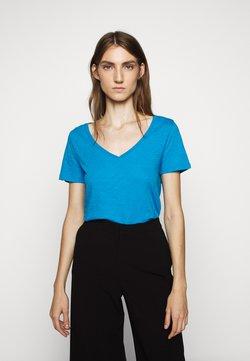 J.CREW - VINTAGE V NECK TEE - T-shirt basique - prussian blue