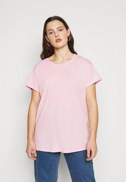 New Look Curves - BOYFRIEND TEE - T-Shirt basic - mid pink