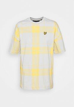 Lyle & Scott - OVERSIZED CHECK - T-Shirt print - cloud