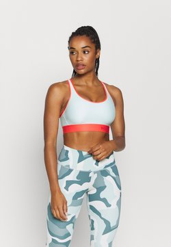 Under Armour - MID KEYHOLE BRA - Sport BH - seaglass blue
