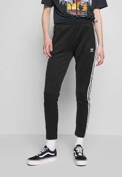 adidas Originals - SUPERSTAR SUPER GIRL ADICOLOR TRACK PANTS - Träningsbyxor - black/white