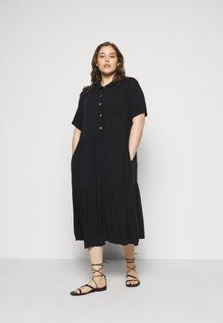 Zizzi - MIDI DRESS - Skjortekjole - black solid