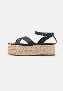 NA-KD - BRAIDED FLATFORM  - Korkeakorkoiset sandaalit - black