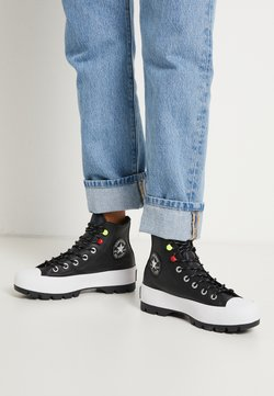 Converse - CHUCK TAYLOR ALL STAR MC LUGGED - Sneakersy wysokie - black/white