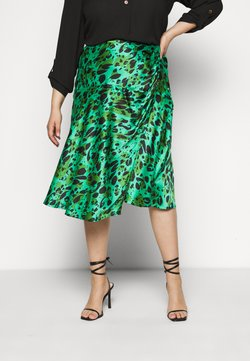 Simply Be - MIDI SKIRT - A-Linien-Rock - green