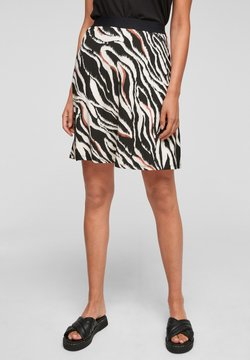 s.Oliver - A-Linien-Rock - black zebra aop