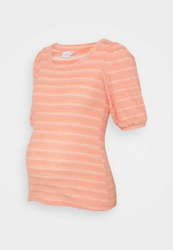 MAMALICIOUS - MLHOLLY - T-Shirt basic - snow white/coral