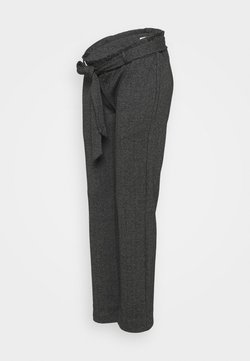 MAMALICIOUS - MLPAOLA  PANTS - Stoffhose - grey/white