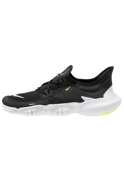 Nike Performance - FREE RN 5.0 - Löparskor - black/white/anthracite/volt