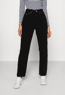 Tommy Jeans - HARPER STRAIGHT ANKLE - Pantalones - black