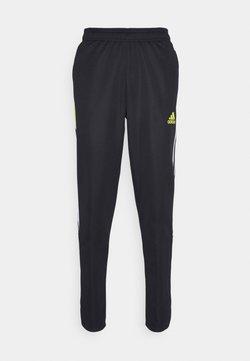 adidas Performance - TIRO  - Pantalones deportivos - black/yellow