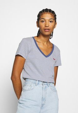 Levi's® - PERFECT V NECK - T-Shirt print - blue indigo