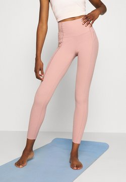 Nike Performance - YOGA 7/8 - Leggings - rust pink/beige