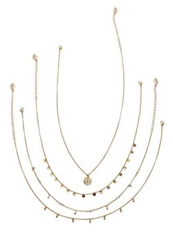 Stradivarius - 4 SET - Ketting - gold-coloured