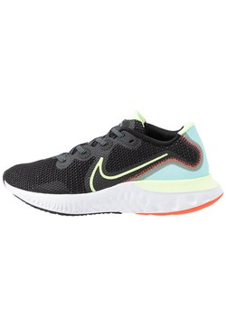 Nike Performance - RENEW RUN - Zapatillas de running neutras - black/barely volt/glacier ice