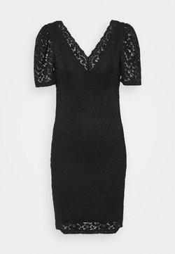ONLY - ONLNEW ALBA PUFF V-NECK DRESS - Sukienka koktajlowa - black